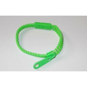 Cipzáras karkötő zöld/ Harajuku style