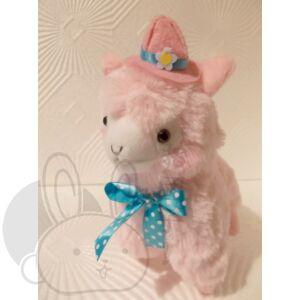 Kalapos alpaka rózsaszín