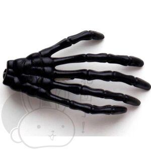 Csontváz kéz hajcsat fekete