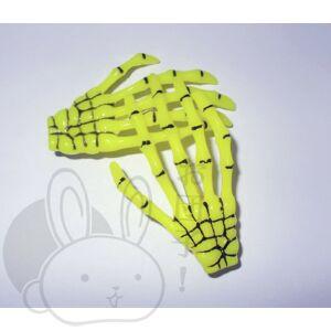 Csontváz kéz hajcsat sárga