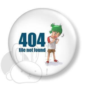 404 file not found kitűző 1 közepes