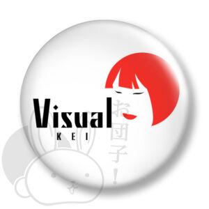 Visual kei kitűző 1 közepes
