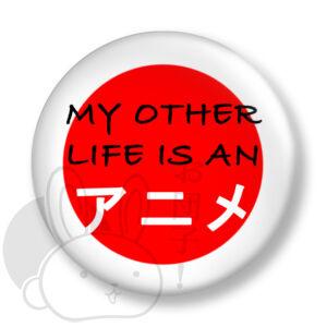 My other life is an anime kitűző 1 közepes