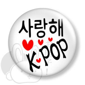 K-pop kitűző 2 közepes
