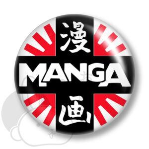 Manga kitűző 2 közepes