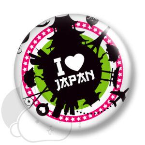 Japán kitűző 5 közepes
