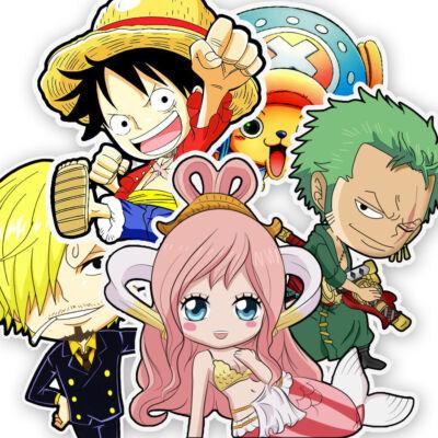 Chibi One Piece matrica csomag