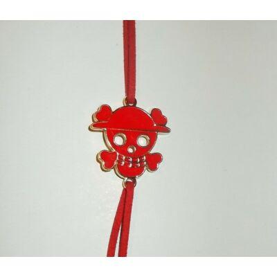 One Piece piros karkötő