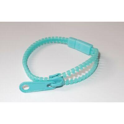 Cipzáras karkötő világos kék/ Harajuku style