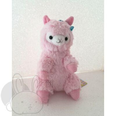 Rózsaszín alpaka plüss ülő