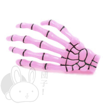 Csontváz kéz hajcsat rózsaszín