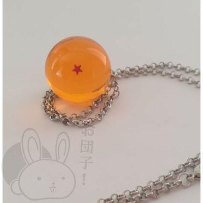 Dragon Ball kristálygömb 1 csillagos nyaklánc