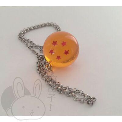 Dragon Ball kristálygömb 5 csillagos nyaklánc