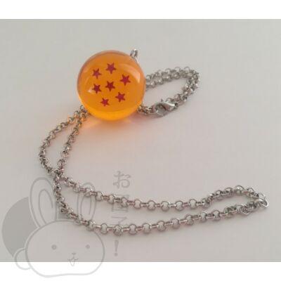 Dragon Ball kristálygömb 7 csillagos nyaklánc