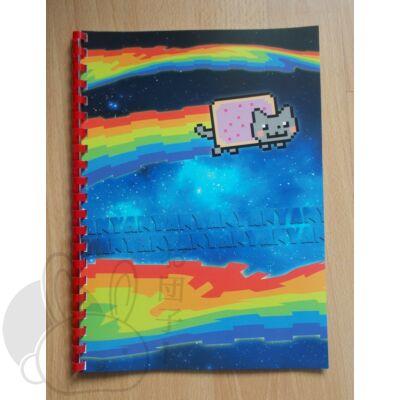 Spirál füzet Nyan Cat