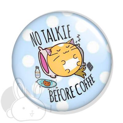 Cica kávéval kitűző 1