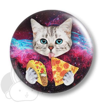 Pizza cica kitűző 1