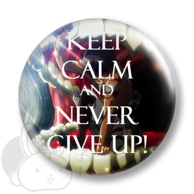 Keep Calm and Never Give Up! kitűző 2