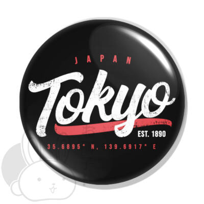 Vintage city Tokyo kitűző