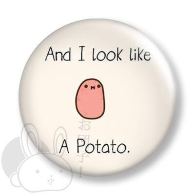 Kawaii potato kitűző 3