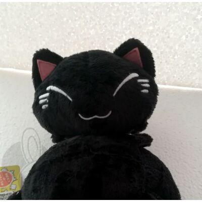 Nemuneko plüss cica fekete színben 2
