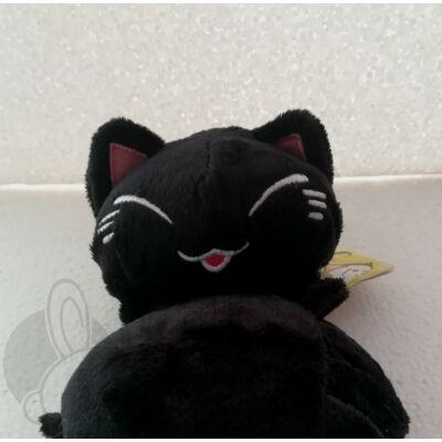 Nemuneko plüss cica fekete színben