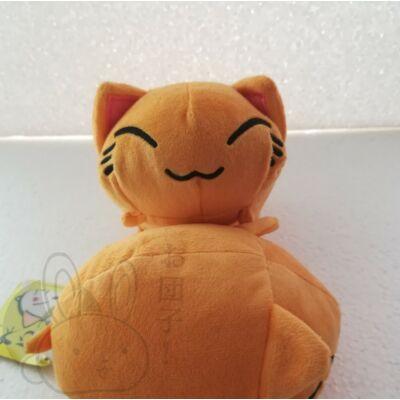 Nemuneko plüss cica narancs színben