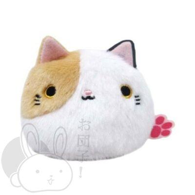 Gombóc cica narancs és fehér