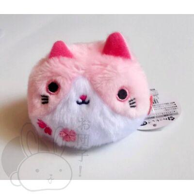 Gombóc cica rózsaszín-fehér
