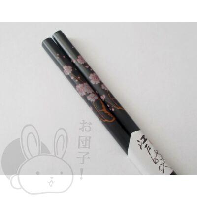 Japán mintás evőpálcika sötét szürke