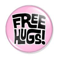 Free Hugs kitűző 1