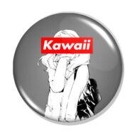 Kawaii manga lány kitűző