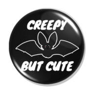 Creepy bat cute kitűző