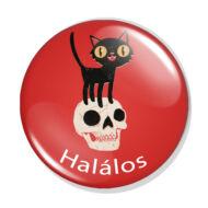 Halálos fekete macska kitűző