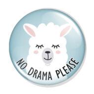 No Drama Láma kitűző