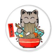 Ramen cica kitűző