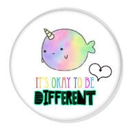 It's okay to be different XL kitűző