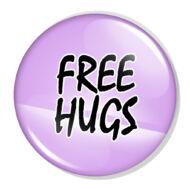 Free Hugs XL kitűző 2
