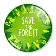 Save the forest XL kitűző
