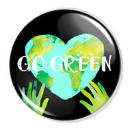 Go green XL kitűző