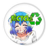 Recycle XL kitűző