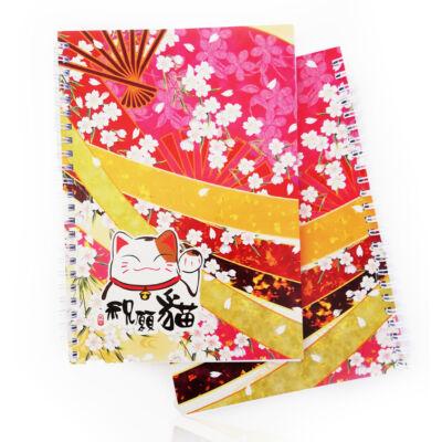 Japán Hanafuda mintás A5-ös füzet