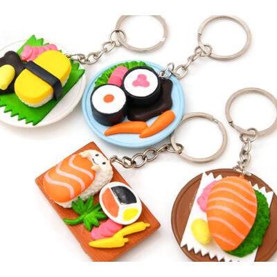 Sushi tál varázs kulcstartó 4 féle