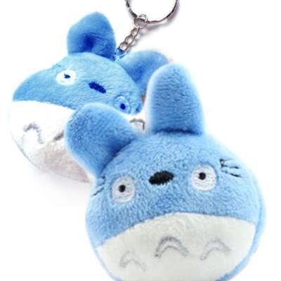Mini Totoro plüss kulcstartó kék