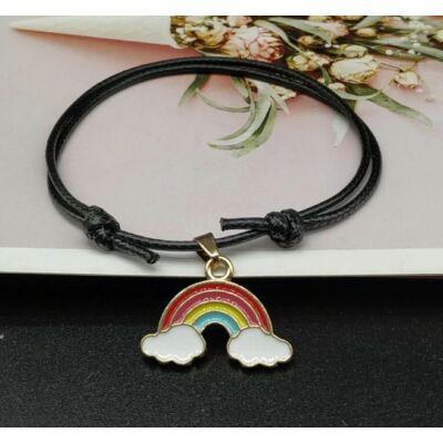 Rainbow love power karkötő fekete