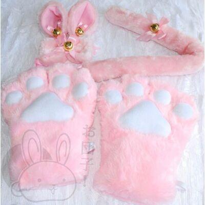 Cica szett rózsaszín
