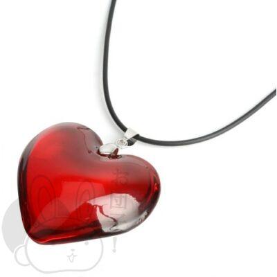 Szív kristály nyaklánc