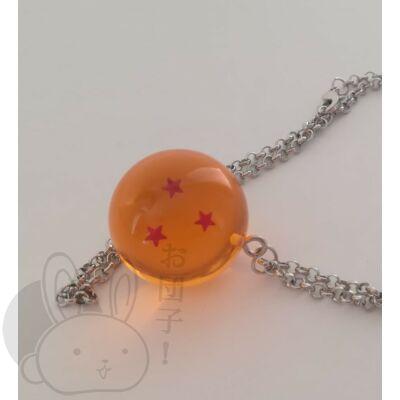 Dragon Ball kristálygömb 3 csillagos nyaklánc