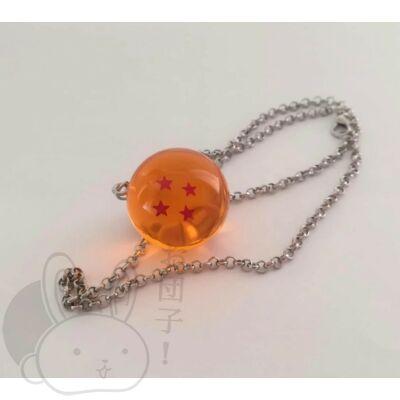 Dragon Ball kristálygömb 4 csillagos nyaklánc