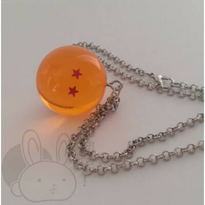 Dragon Ball kristálygömb 2 csillagos nyaklánc